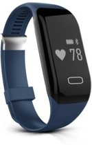 Activity tracker - met hartslagmeter - polsband - heart rate monitor - blauw - DisQounts