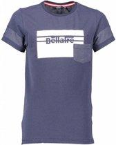 Bellaire T-shirt Kelton dots large square print navy blazer