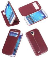 Best Cases Bookcase Flip Cover VIEW Hoesje Samsung Galaxy S4 i9500 Bruin