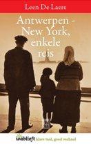 Omslag van 'Antwerpen-New York, enkele reis'