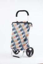 Rixx - Shopping Trolley - Geometric Heldere Kleuren - 38 L