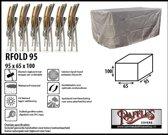 RFOLD95 Beschermhoes voor opvouwbare tuinstoelen 95x65 H: 100 cm taupe