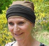 Chemo muts zwart met beige