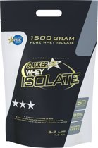 Stacker 2 Whey Isolate Aardbei shake - 1,5 kilo - Voedingssupplement