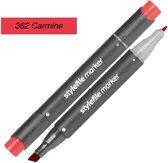Stylefile Twin Marker - Karmijn - Deze hoge kwaliteit stift is ideaal voor designers, architecten, graffiti artiesten, cartoonisten, & ontwerp studenten