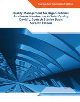 Quality Management for Organizational Excellence Pearson  International Edition