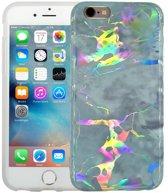 Marmer iPhone 6/6S Hoesje Marble Hologram Grijs