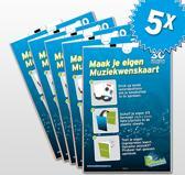 5x Muziekwenskaarten 30 seconden - zelf opneembaar - spreek je eigen boodschap in - wenskaart met geluid - muziekwenskaart.nl