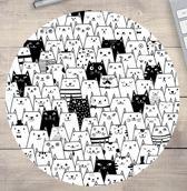 muismat Kat Cartoon Katten - rond 20 cm