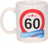 Verjaardag 60 jaar verkeersbord mok / beker