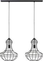 Light & Living Hanglamp  GINA 2L 100x40x150 cm  -  mat zwart