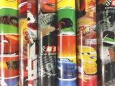 6 rollen - Cars 2 Cadeaupapier - 3 verschillende designs - 70x200cm