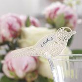 Gingerray Birdy plaatskaartjes op glas ivoor - Vintage Lace