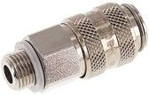 Messing DN 5 Luchtkoppeling Snelkoppeling G 1/8 inch Buitendraad - CLS5-M-BN-018