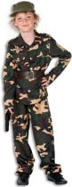 Camouflage kostuum voor kinderen 128