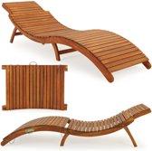 Loungebank ergonomisch van Acacia hardhout - Inclusief beschermhoes