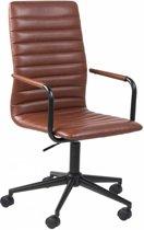 FYN Winslet - Bureaustoel met armleuningen - Lederlook Vintage Bruin