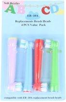 Opzetborstels Kids passend op Oral-B 4 stuks - Qatrixx EB-10