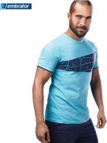 Embrator T-shirt met grafische print turquoise maat L