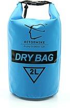 Drybag 2 Liter - Blauw - Waterdichte tas - Houd uw spullen droog en beschermd