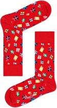 Happy Socks - Happy Holliday Christmas - Gift - Rood - Unisex - Maat 36-40