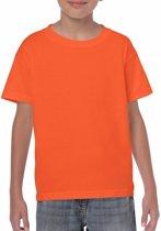 Oranje kinder t-shirts 122-128 (s)