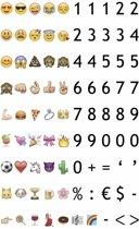 LEDR® Lightbox Emoticons, Cijfers & Leestekens – 85 stuks – Toepasbaar op A3, A4 of A5 lightbox