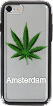 81Fox case Weed Amsterdam souvenir Wiet Cannabis backcover Hasj transparant gift iPhone 7 TPU bumper en PC hoesje
