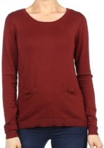 Vero moda zachte rode trui - Maat XL