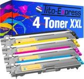 PlatinumSerie® 4 toner XXL alternatief voor Brother TN-241 TN 245 black cyaan magenta yellow