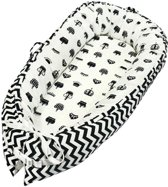 Little World Babynest Sleepy White-Black