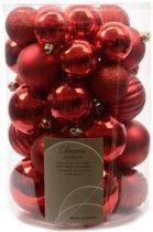 HHCP Kerstballen - 34 stuks - Ø5 cm tot Ø8 cm - Rood