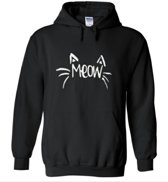 Hippe sweater | Hoodie | I Love Cats | Print Meow | maat Large
