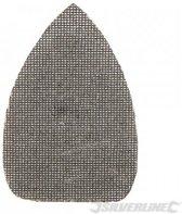 'Driehoekige klittenband gaas schuurvellen, 140 x 100 mm, 10 pk.