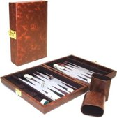 Hot games Backgammon koffer magnetisch bruin 23x17