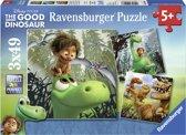 Ravensburger Disney The Good Dinosaur Arlo de goede dino Drie puzzels van 49 stukjes