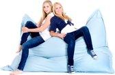 Beliani Zitzak Sitzsack Extra Big lichtblauw - Canvas - 180x230cm