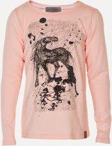 Creamie - meisjes shirt - lange mouwen - Hanna autumn rose - pastel roze - Maat 116