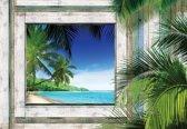 Fotobehang Beach Tropical View | XXXL - 416cm x 254cm | 130g/m2 Vlies