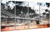 Glasschilderij Modern | Rood, Grijs, Zwart | 160x80cm 4Luik | Foto print op Glas |  F004414