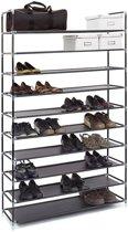 MaxxHome metalen schoenenrek - 10 niveaus - 50 paar schoenen