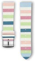100% katoenen horlogeband met leder (achterzijde) Lollypop 24 mm