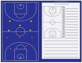 Sportec Magnetisch Coachmap + Clip - Basketbal