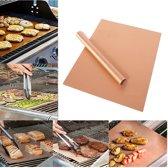 2x Barbecue Matje   Beste Kwaliteit Ovenbeschermer   BBQ Matje Ovenbestendig   Oven Mat Koper Teflon   Herbruikbaar & Anti kleef   2 stuks van 40*33 cm