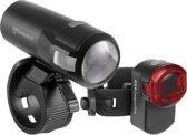 AXA Compact Line 35 Fietsverlichtingsset - Accu - USB - 35 lux