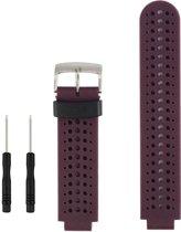 Horlogeband voor Garmin Forerunner 230/235/235 Lite/220/620/630/ 735 - siliconen - paars