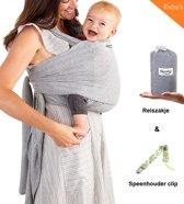 Zachte Baby Draagdoek met Speenkoord Clip en Reiszakje – Rekbare Baby Wrap – Draagzak - Qwality