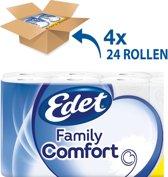 """Edet 3-Laags Toiletpapier """"Family Comfort"""" VOORDEELVERPAKKING (4x24) 96 rollen"""