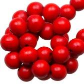 Houten Kralen Intense Look (8 mm) Red Rose (208 stuks)