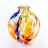 Vaas Fidrio - glazen sculptuur - art colours - mondgeblazen